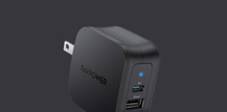 RAVPower 30W 2-Port Fast Charger