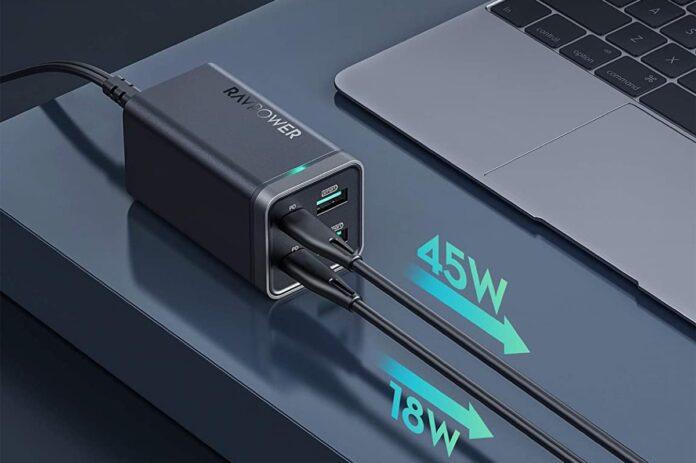 RAVPower 65W 4-Port Desktop USB Charging Station