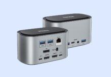 RAYROW USB-C 4K Triple Display Docking Station with SSD Enclosure