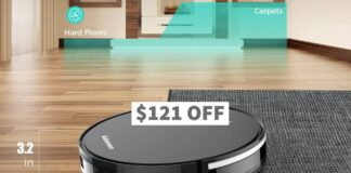 Robomann380 Smart Navigating Robotic Vacuum Cleaner