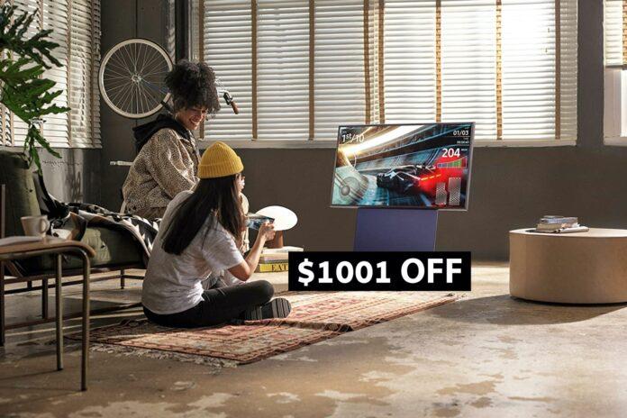 _Samsung 43 Class The Sero QLED LS05 Series TV -min