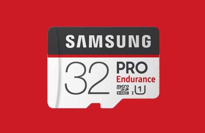 Samsung PRO Endurance 32GB 100MB:s (U1) MicroSDXC Memory Card with Adapter