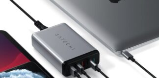 Satechi Type-C 75W Travel Charger with USB-C PD Fast Charger