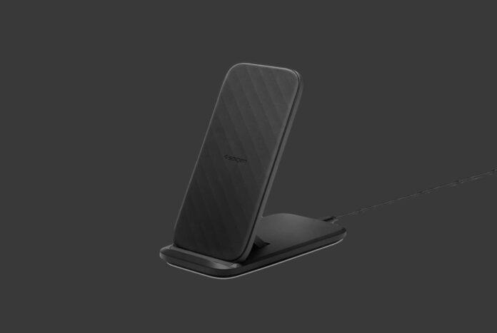 Spigen SteadiBoost Flex Convertible Fast Wireless Charger Stand