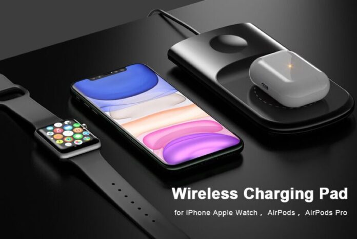 2 in 1 Wireless Charging Pad For iPhone & Apple Watch