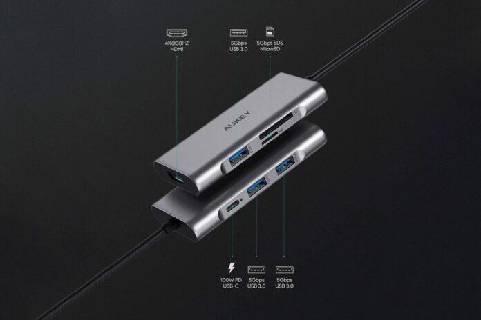 AUKEY USB C Hub 7-in-1