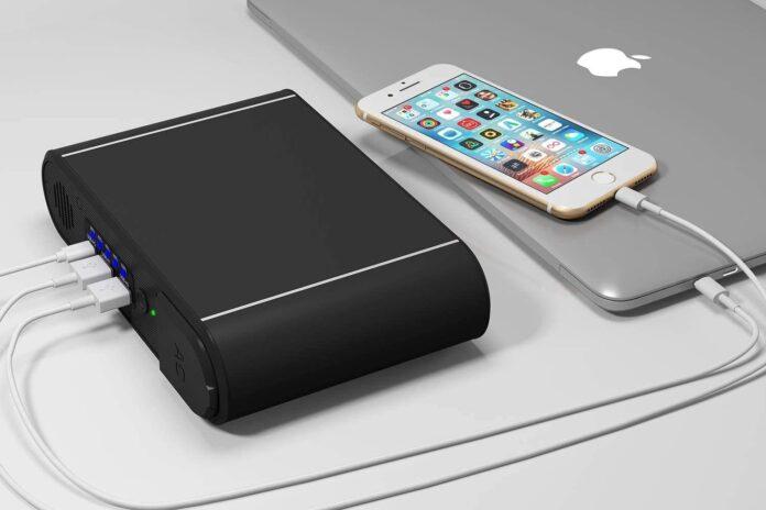 Ewemosi 30,000mAh Portable Power Bank with AC Outlet