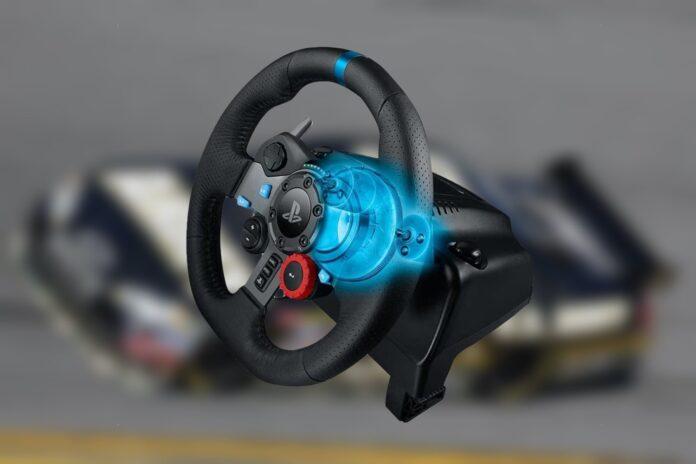 G29 Gaming Racing Wheel Logitech Dual-Motor Feedback Driving Force