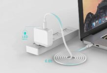 Szpower 45W USB-C Charger with a 6.6ft USB-C Cable