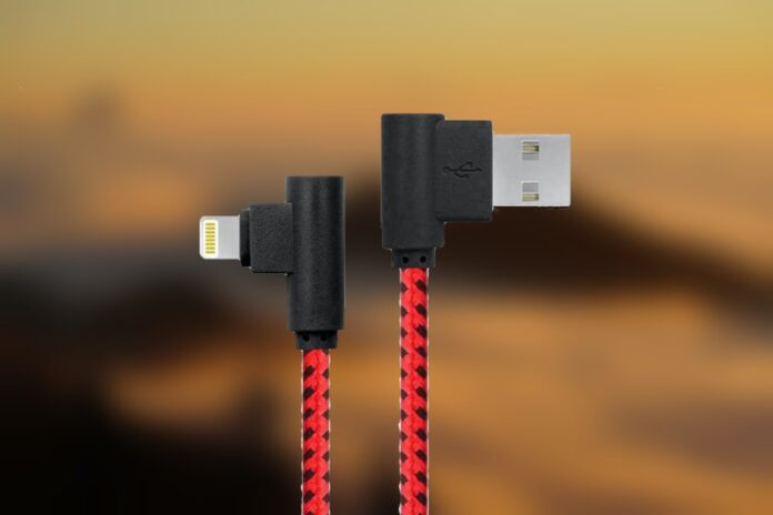 Apfen MFI Right Angle Lightning Cable