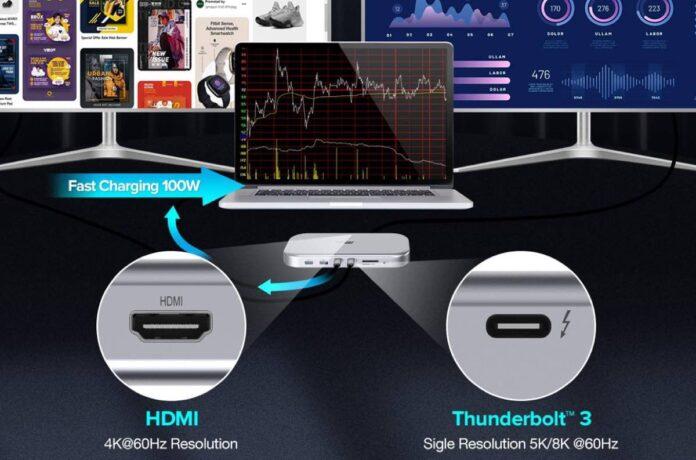 FlePow 8K Triple Display 13-In-1 USB C HUB