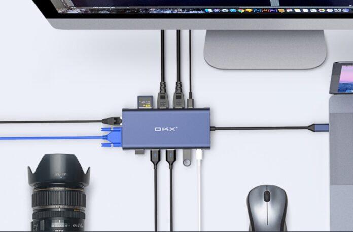 OKX USB C Laptop Hub Adapter 12-in-1