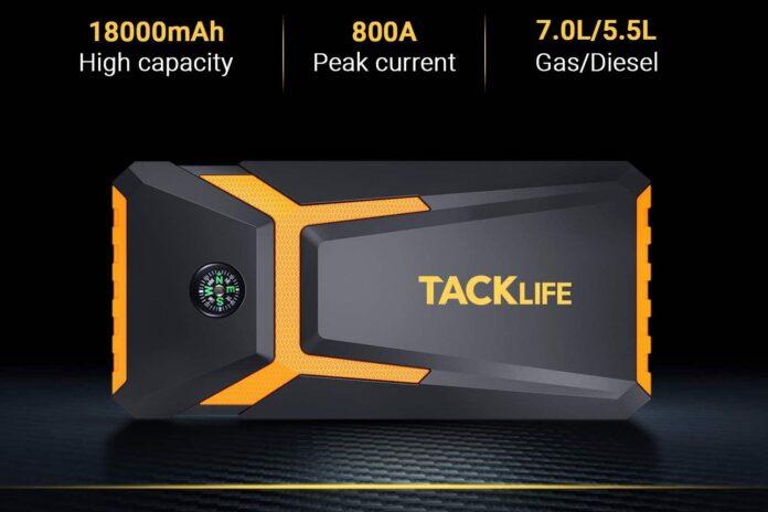 TACKLIFE T8-Newer Model 800A Peak 18000mAh Car Jump Starter