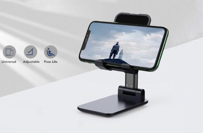 Yoozon [2020 Updated] Angle & Height Adjustable Desk Phone Holder