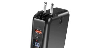 GRDE power bank wall charger