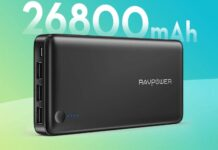 RAVPOWER 26800mAh Power Bank & Wall Adapter