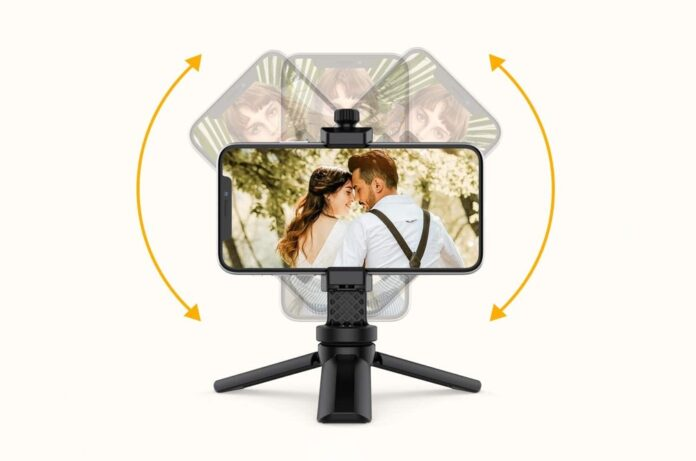 Anozer Mini Selfie Stick Tripod with Adjustable Cell Phone Holder