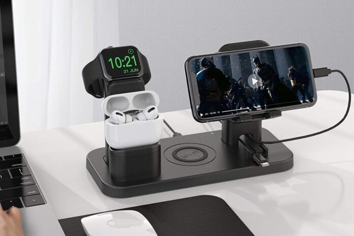 CEREECOO 4 in 1 Wireless Charging Station Dock