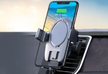 VANMASS 15W Wireless Car Charger Mount Auto Clamping