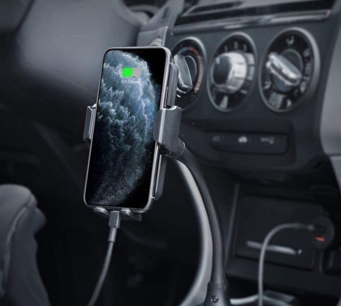 Aukey's Car Cup Holder Phone Mount