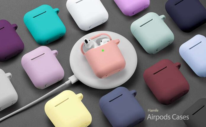 Hamile Soft Silicone Protective AirPods Case