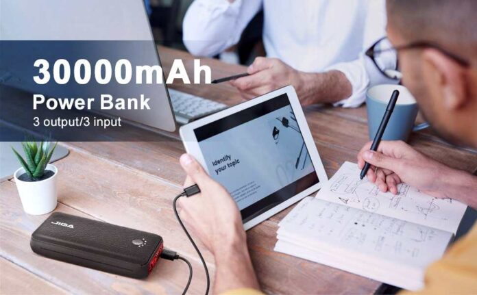 JIGA 30000mAh Fast Charging USB C Power Bank