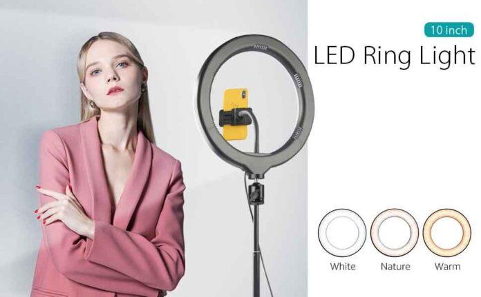 Manelord 10'' Selfie Ring Light
