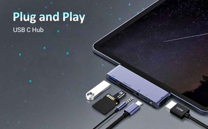 RAYROW 6 in 1 USB C Hub