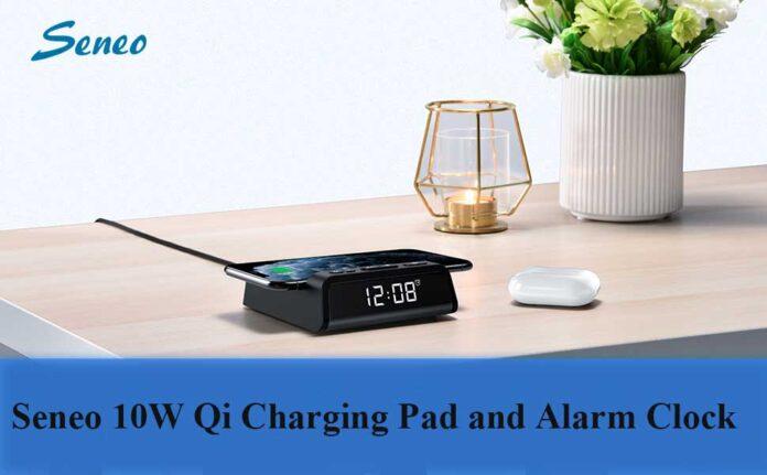 Seneo 10W Qi Charging Pad and Alarm Clock