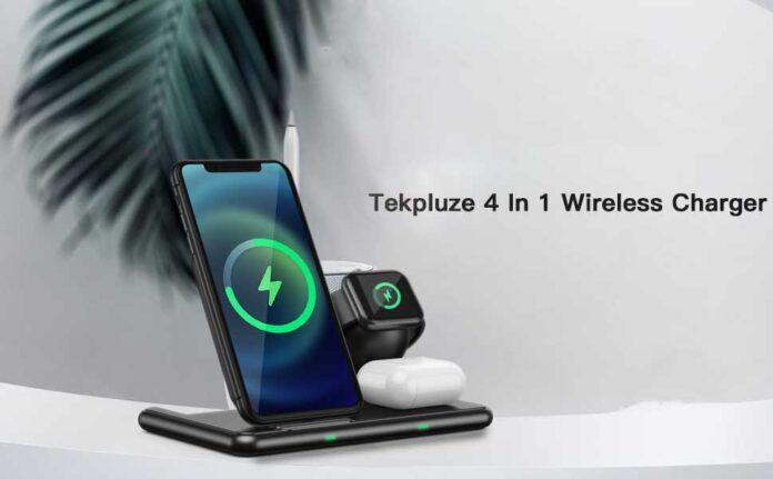Tekpluze 4 in 1 Wireless Charging Station