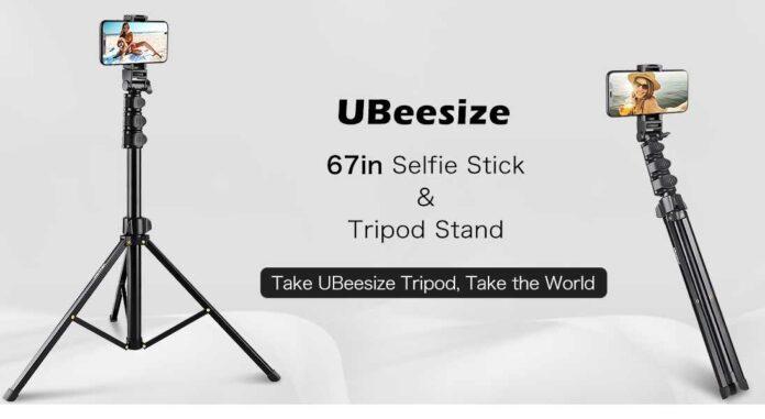UBeesize 67inch Phone Tripod Stand & Selfie Stick Tripod