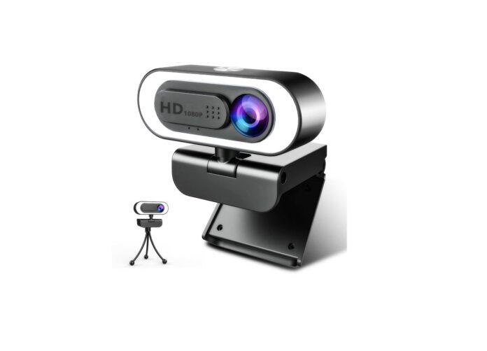 Webcam with Microphone Ring Light