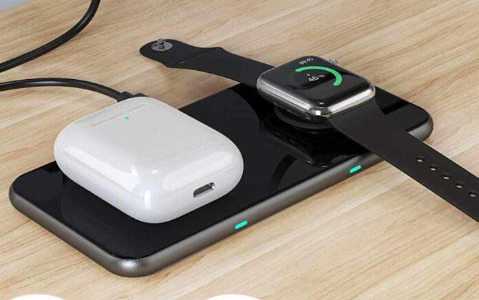 2 in 1 Dual Wireless Charging Pad