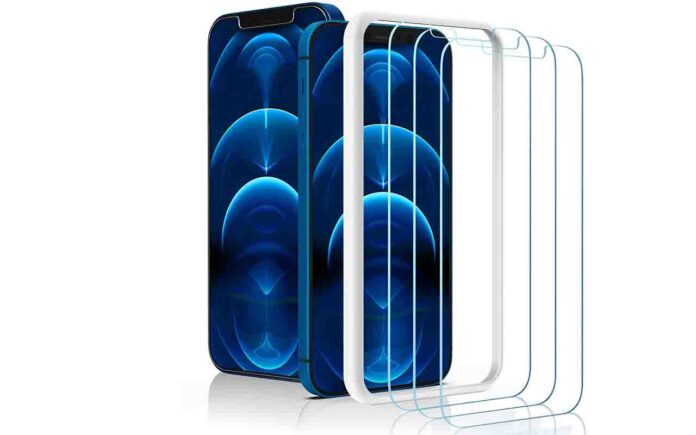 Amuoc iPhone 12 pro max Tempered Glass