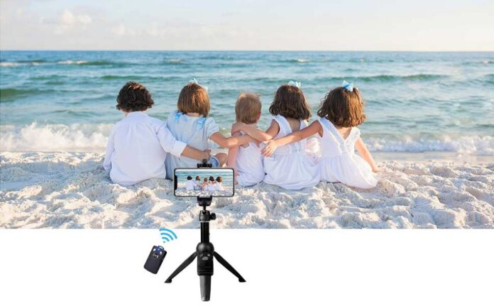 Bluehorn Portable 40 Inch Aluminum Alloy Selfie Stick Phone Tripod stand