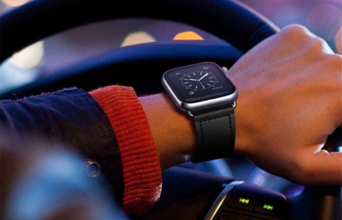 KYISGOS Genuine Leather Apple Watch Band