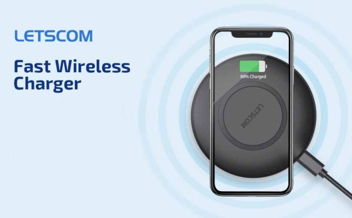 LETSCOM Qi-Certified 15W Max Fast Wireless Charging Pad