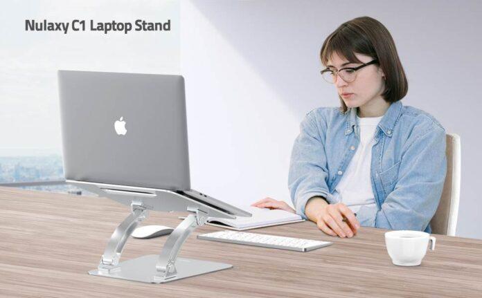 Nulaxy Ergonomic Height Angle Adjustable laptop stand