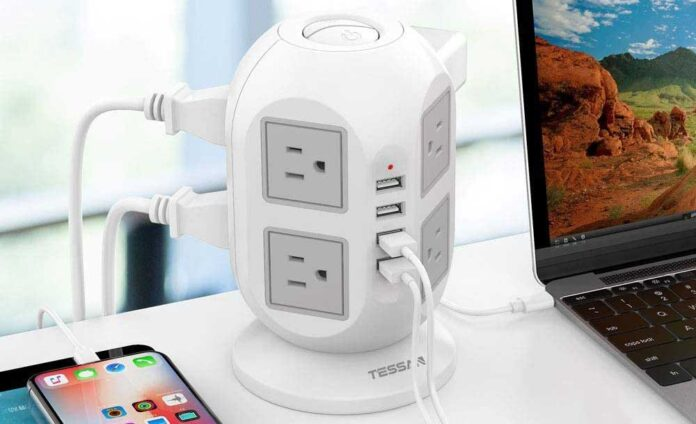 TESSAN Surge Protector 8 AC Outlets with 4 USB Ports Charging Station