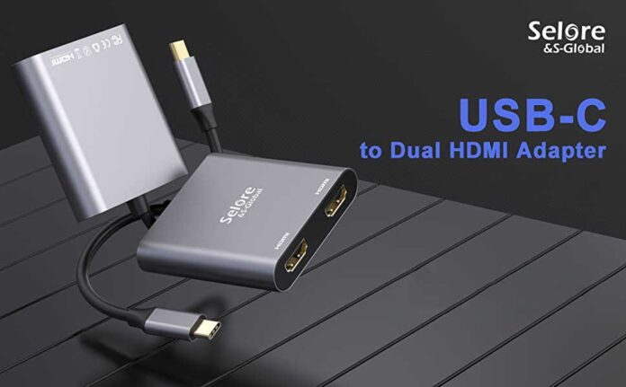 selore&S USB C to Dual HDMI Adapter