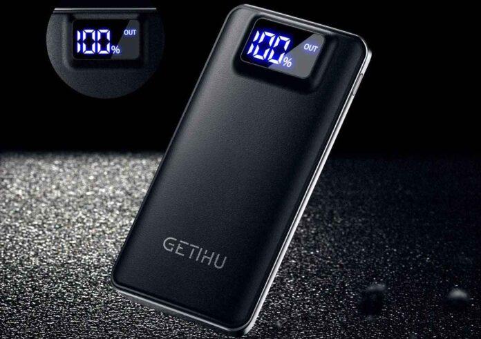 GETIHU 10000mAh LED Display USB C Power Bank