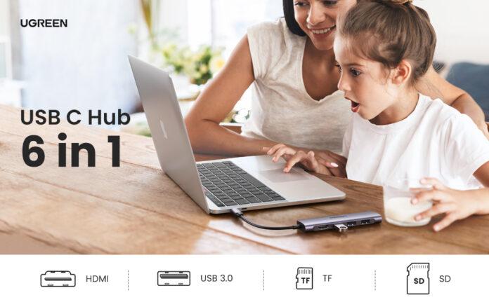 UGREEN 6 in 1 USB C Hub