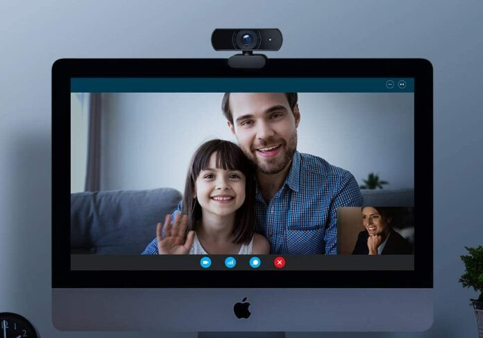 Victure 1080P Webcam with Privacy Cover