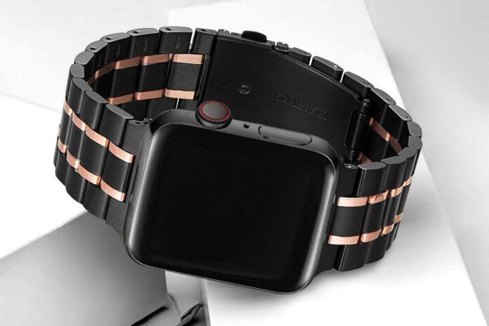 Bestig Premium Solid Stainless Steel Apple Watch Band