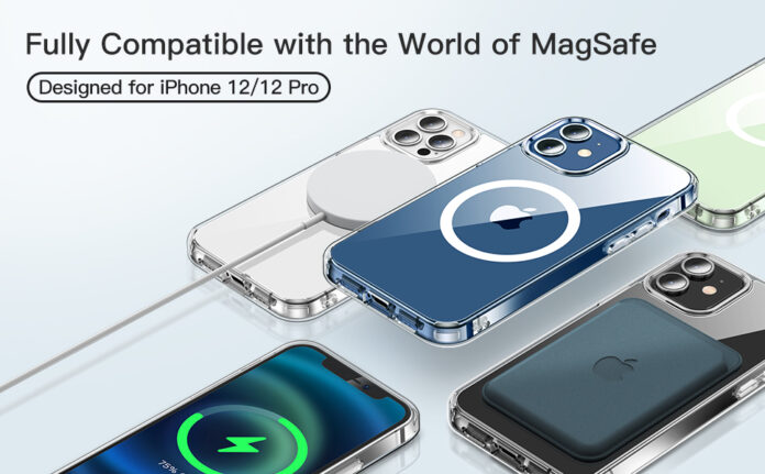 CASEKOO Magnetic Crystal Clear iPhone 12 Case
