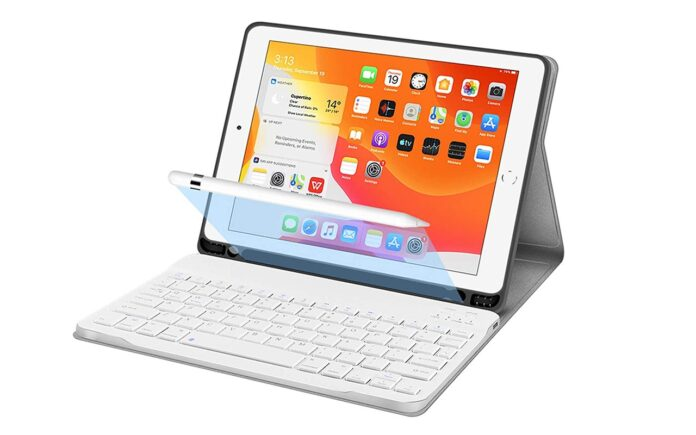 JUQITECH 10.2 iPad Smart Case with Wireless Keyboard