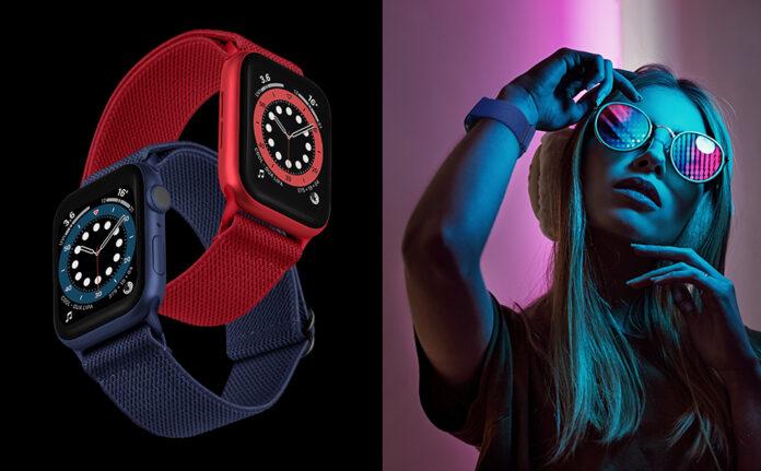 OXWALLEN XL Stretchy Apple Watch Nylon Solo Loop