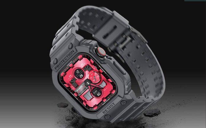 amBand Rugged Armor Apple Watch Band Case