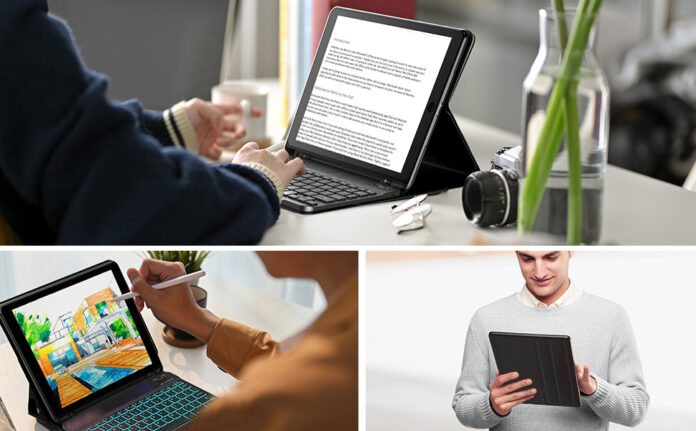 BOSSWIN iPad Keyboard Case for iPad 8th Generation