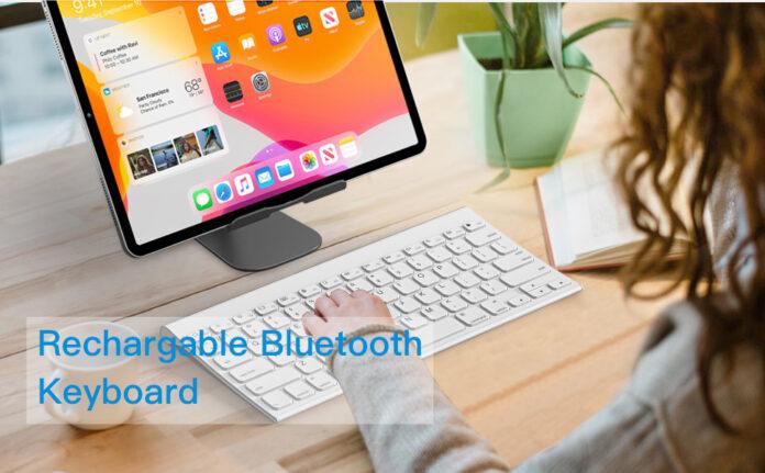 OMOTON Ultra Slim Wireless Bluetooth Keyboard
